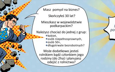 """Dofinansowania na rozpoczęcie działalności w projekcie """"Moja firma – Moja szansa"""""""