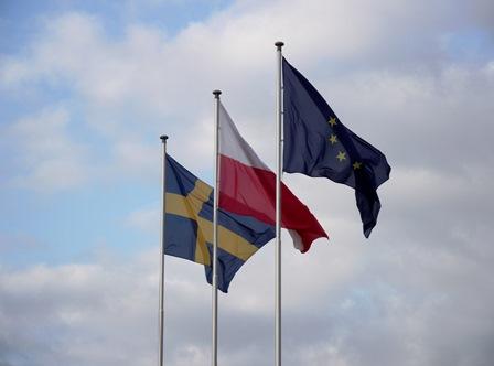 Baltic Business Forum - Flagi Szwecji Polski Unii Europejskiej