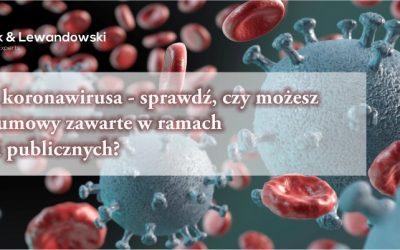 Epidemia koronawirusa, a możliwości zmiany umów zawartych w ramach zamówień publicznych (cz.I)